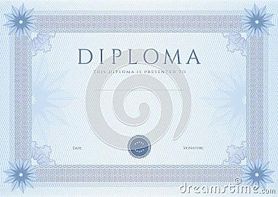 Diploma / Сertificate award template. Pattern