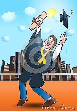 Free Diploma Gain Stock Image - 19638921