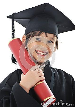 Free Diploma Graduating Little Student Kid Royalty Free Stock Photo - 23355925