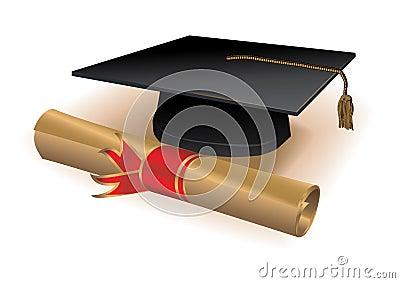 Diploma and mortar