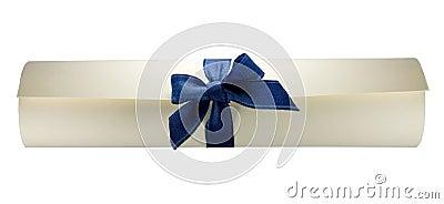 Diploma scroll