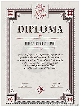 Free diploma template 10 sets of free certificate design diploma template royalty free stock photography image 22299157 pronofoot35fo Choice Image