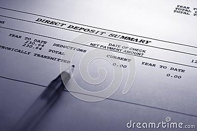 Direct Deposit Summary