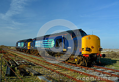 Direct Rail Services train. Nuclear industry Editorial Stock Photo