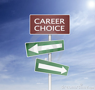 Direction sign in career choise