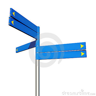 Free Direction Signs Royalty Free Stock Images - 12523639