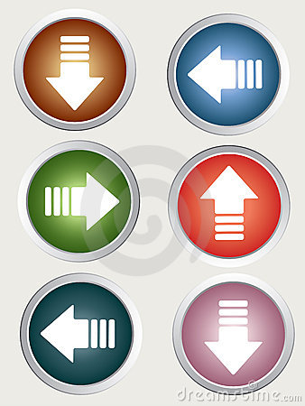 Directional arrow buttons