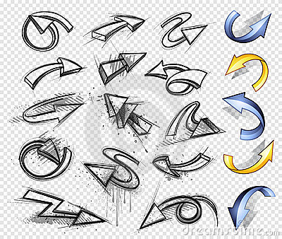 Directional arrows set