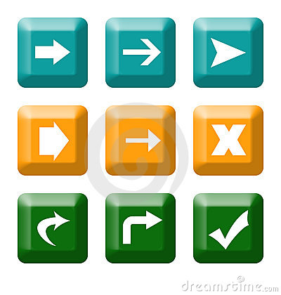 Directional button icons