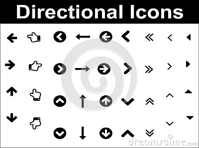 Directional icons set.