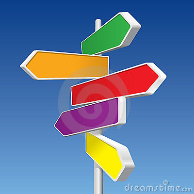 Free Directional Signs Stock Photography - 9762922