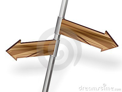 Directions arrow