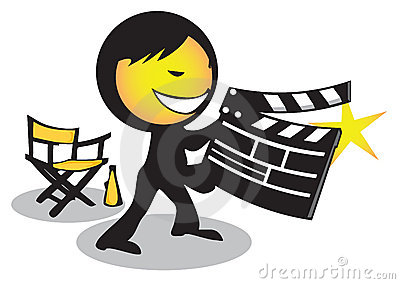 Director movie clapboard