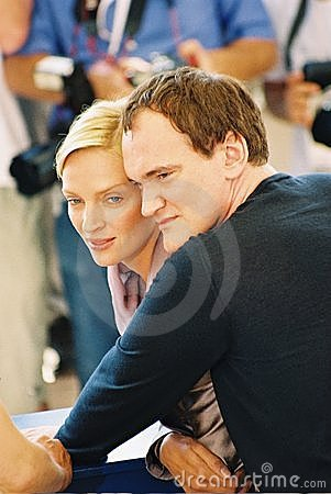Free : Director Quentin Tarantino And Actress Uma Thurm Royalty Free Stock Images - 13198389