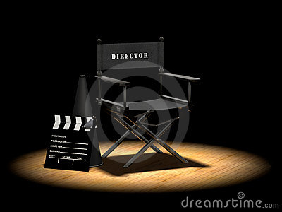 Director s Chair Under Spotlight