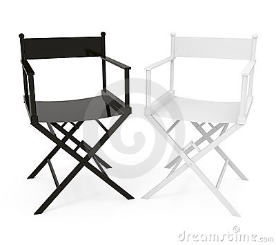 Directors Chair isolated on white