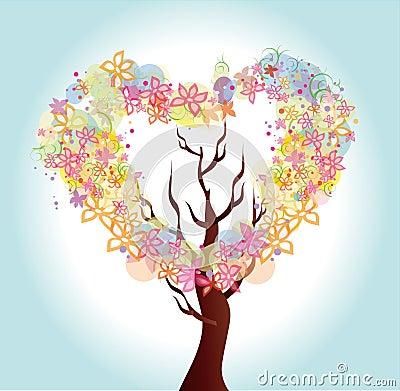 Arbre de coeur de fleur image libre de droits image 30035026 - Coeur avec des fleurs ...