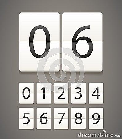 Diário de papel com dígitos