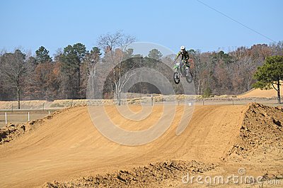 Dirt Bike Flying High Editorial Stock Image