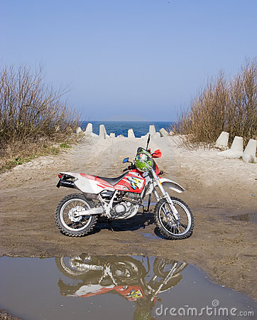 Dirt bike at sea