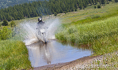 Dirt Bike Water Crossing