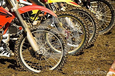 Dirt bike wheels - motocross competition