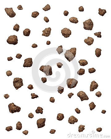 Dirt Clods Isolated on white