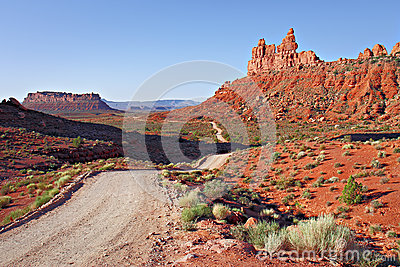 Dirt road through valley of the gods