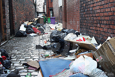 Dirty Back Alley Stock Images Image 22689724