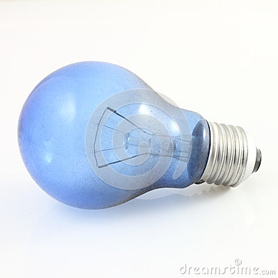 Dirty blue tube