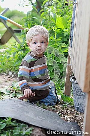 Dirty boy outdoor