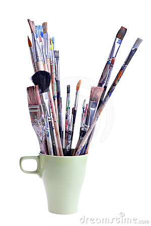 Dirty brushes