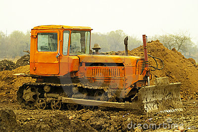 Dirty bulldozer