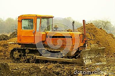 Dirty bulldozer