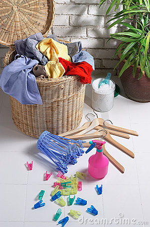 Dirty Clothes in Laundry Basket