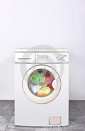 Free Dirty Clothes Washed On Washing Machine Royalty Free Stock Photography - 121468357