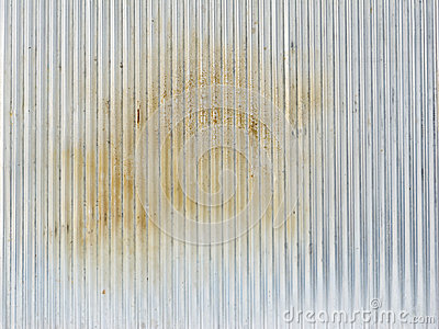 Dirty corrugated zinc sheet