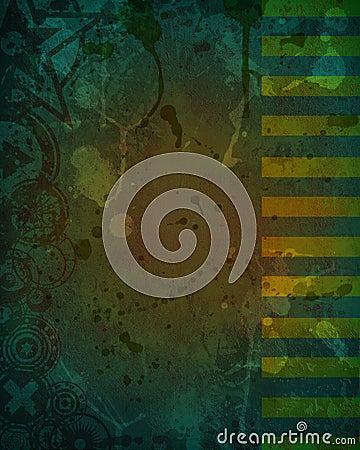 Dirty Dark Green Grunge Background Design