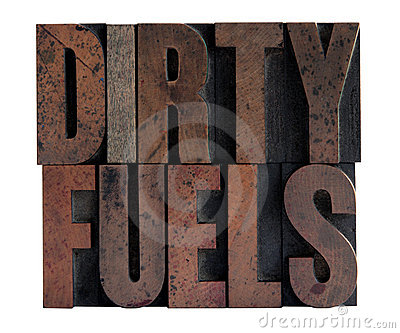 Dirty fuels in letterpress wood type