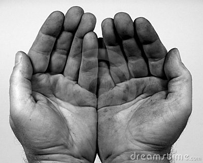 Dirty Hands. Royalty Free Stock Photos - Image: 371738
