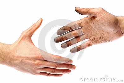 Dirty handshake