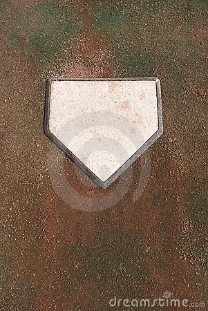 Dirty Home Base Plate