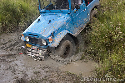 Dirty jeep on competition