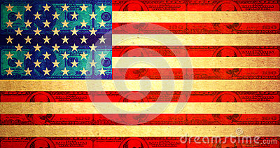 Dirty money american flag