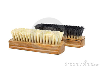 Dirty and new clothes brushes