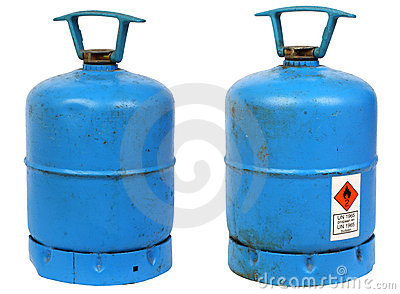 Dirty old butane cylinders