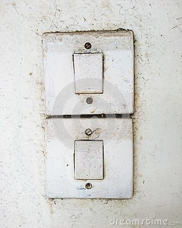 Free Dirty Old Switches On The White Wall Royalty Free Stock Photo - 109005265