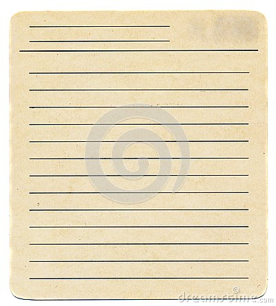 Free Dirty Old Yellowing Blank Index Paper Card Isolated On White Royalty Free Stock Photos - 43552998