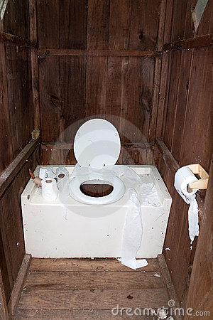 Dirty Outhouse Royalty Free Stock Photos Image 14942178