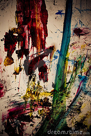 Dirty paint Color strokes